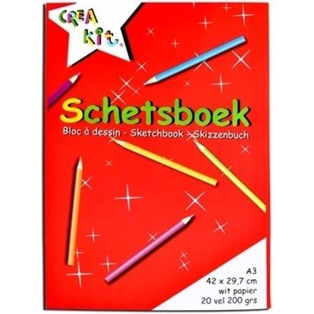Creakit Schetsboek A3 20 vellen 200 gram Crea-kit