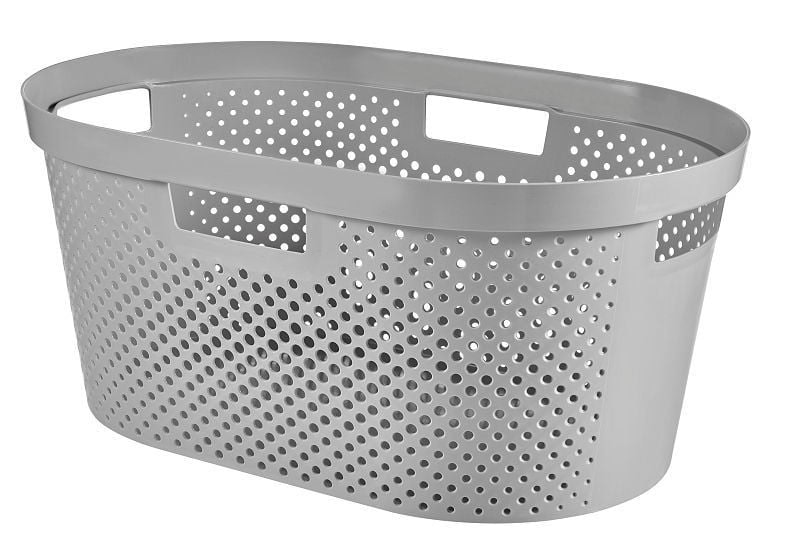 Curver Infinity Dots wasmand 39 l zilver