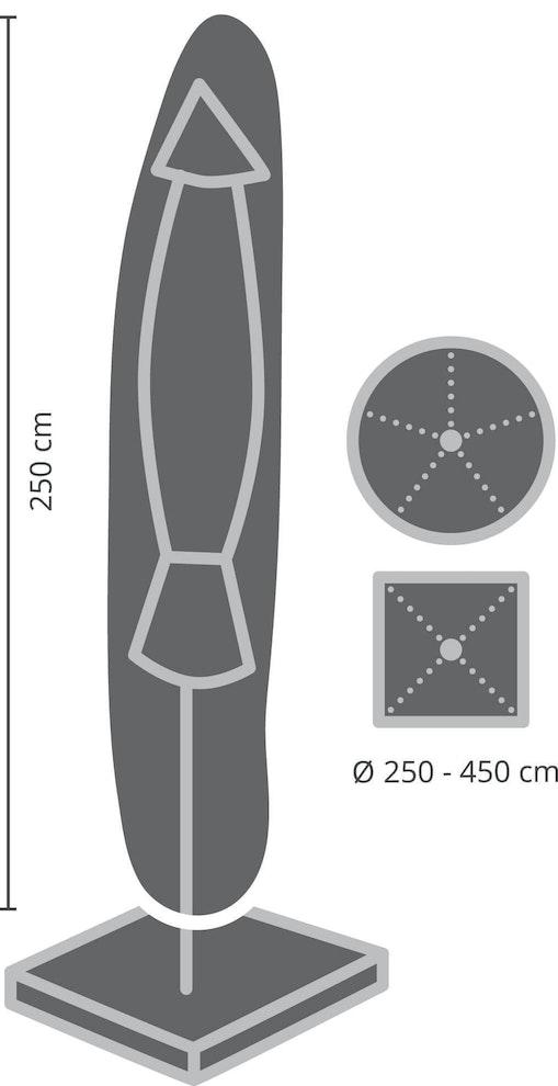 Zweefparasols beschermhoes 350 cm rond