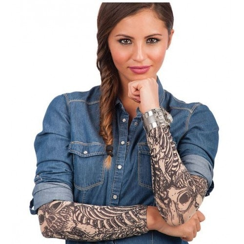 Tattoo sleeves with skeleton