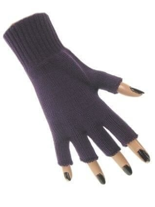 Handschoen vingerloos paars