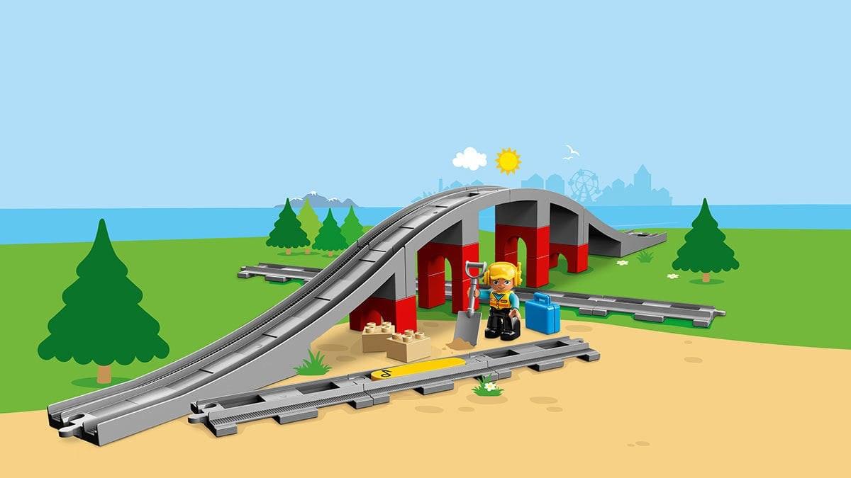 DUPLO Eisenbahnbr?cke und Schienen