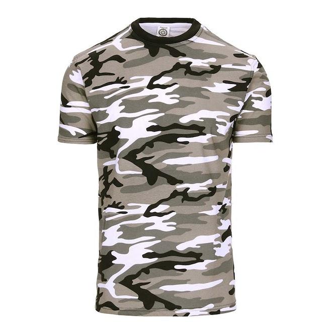 Heren T-shirt Fostee Camo Urban