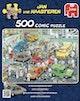 Jumbo puzzel Jan van Haasteren In de autospuiterij 500 stukjes - Product thumbnail