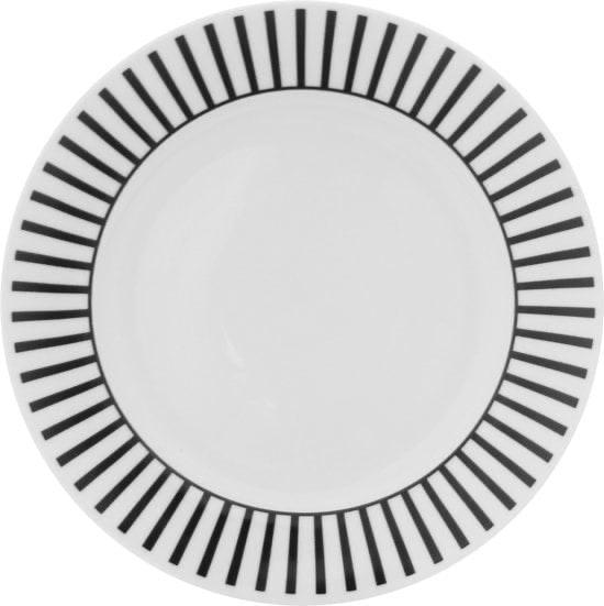 Dutch Rose Dinerbord zwart