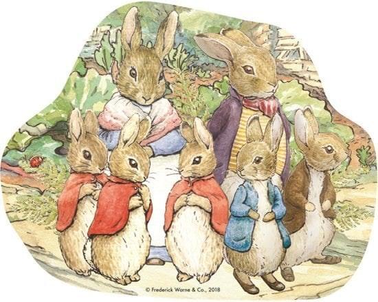 Peter Rabbit Classic 4 in 1 vormenpuzzel