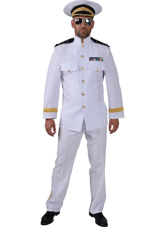 Wit officiers kostuum