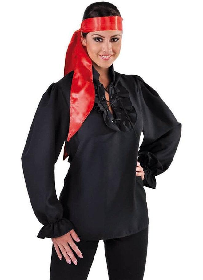 Sjaal / shawl satijn rood