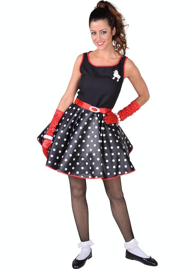 Rock roll jurk zwart