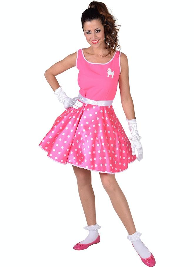 Rock roll jurk pink