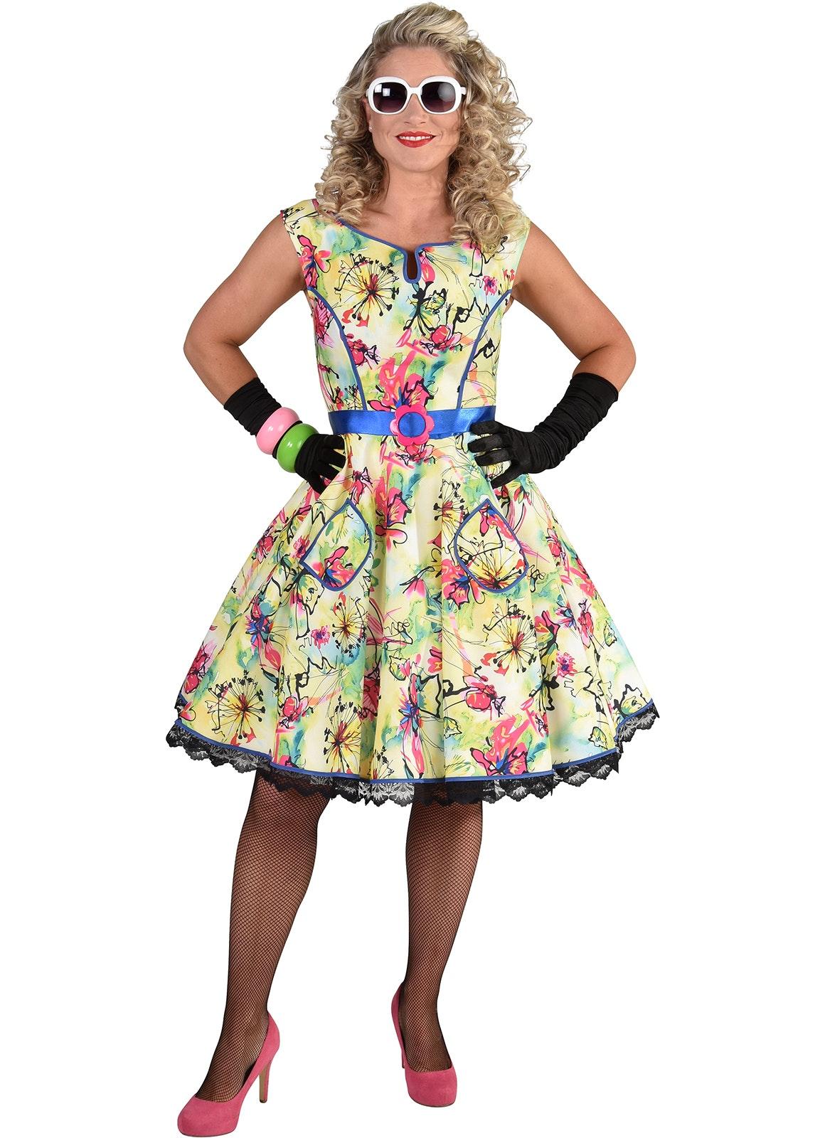 50's Rock 'n roll jurk bloesem
