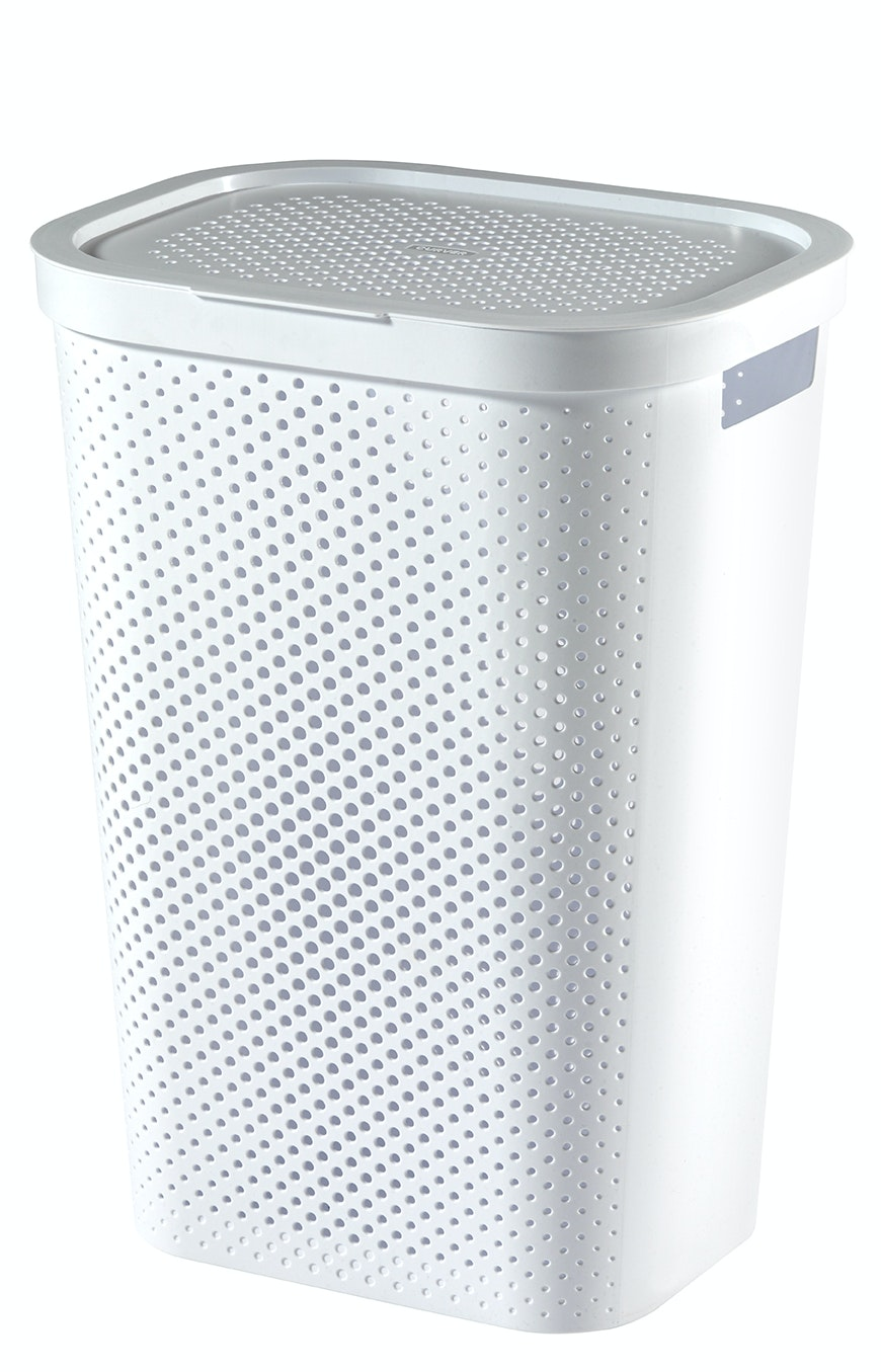 Curver Infinity wasbox dots 60 liter wit