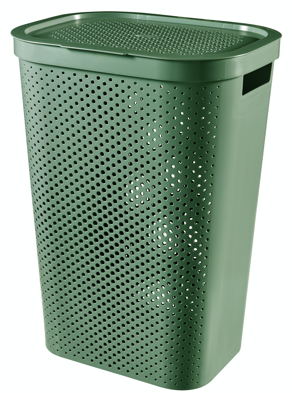 Curver Infinity wasbox dots 60 liter groen