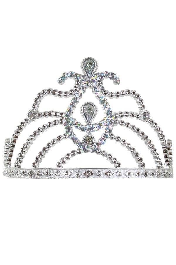 Zilveren tiara