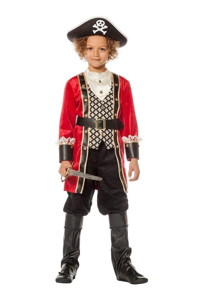 Piraat jongen op=op