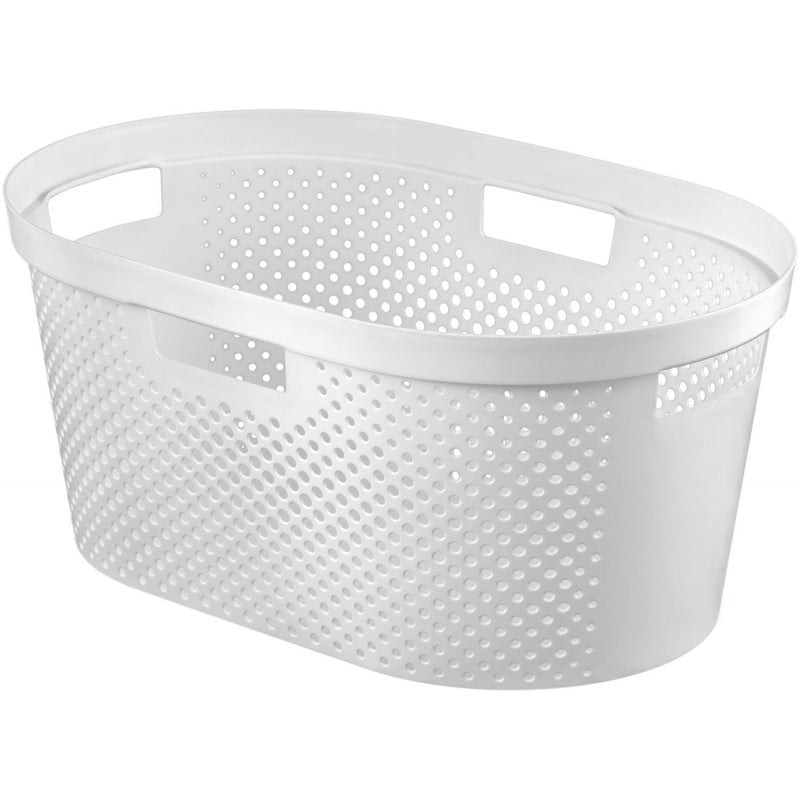 Curver Infinity Dots wasmand 39 l wit