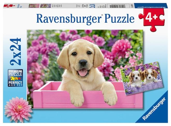 Ravensburger puzzel Dierenfoto 2x24 stukjes