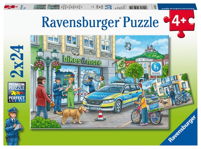 Ravensburger puzzel Politiestation 2x24 stukjes