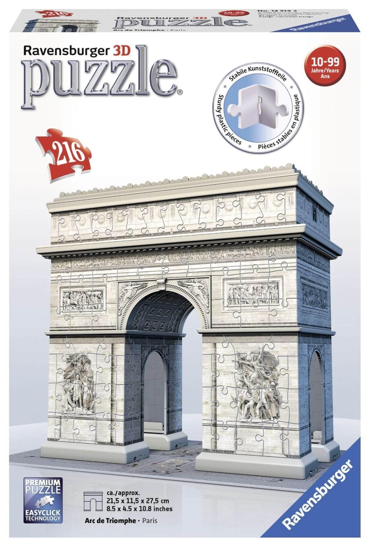Ravensburger 3D-puzzel Arc de Triomphe in Parijs 216 stukjes