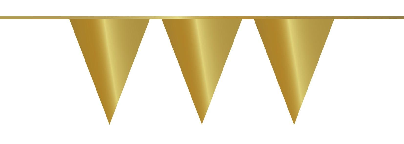 Vlaggenlijn PE 10mtr goud