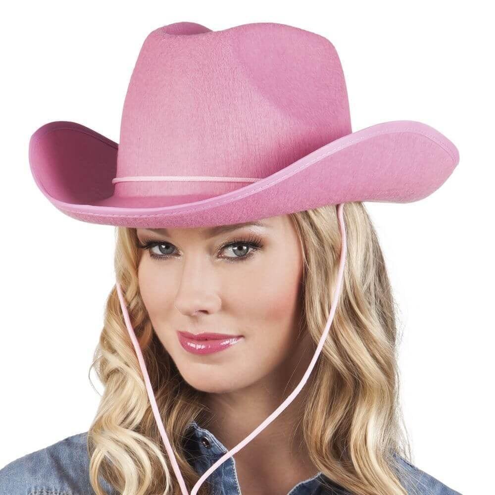 Cowboyhoed Rex vilt candy pink