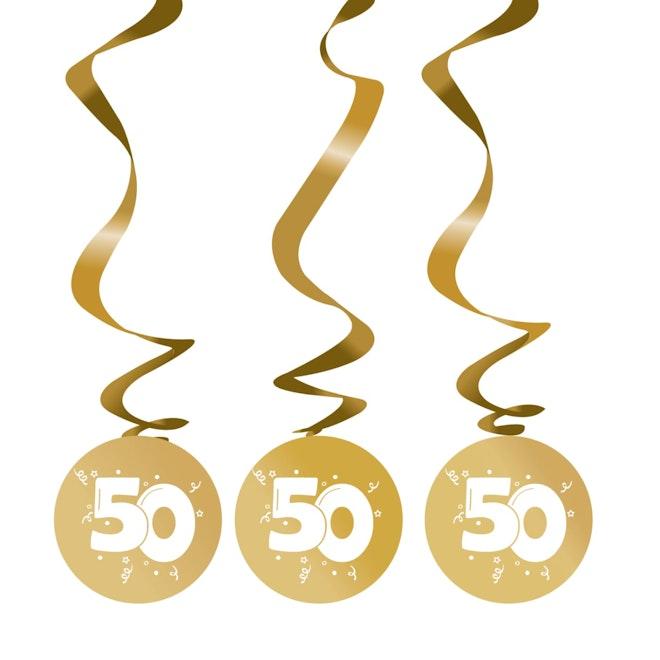 Rotorguirlande goud 50 3 stuks