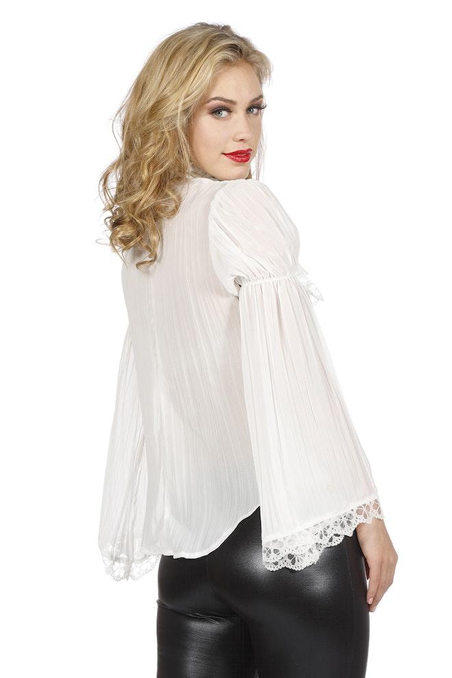Piraten/gothic blouse, ecru