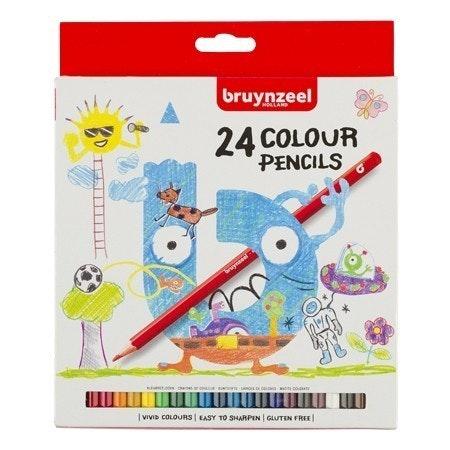 Bruynzeel-sakura Bruynzeel Young kleurpotl. 24 stuks