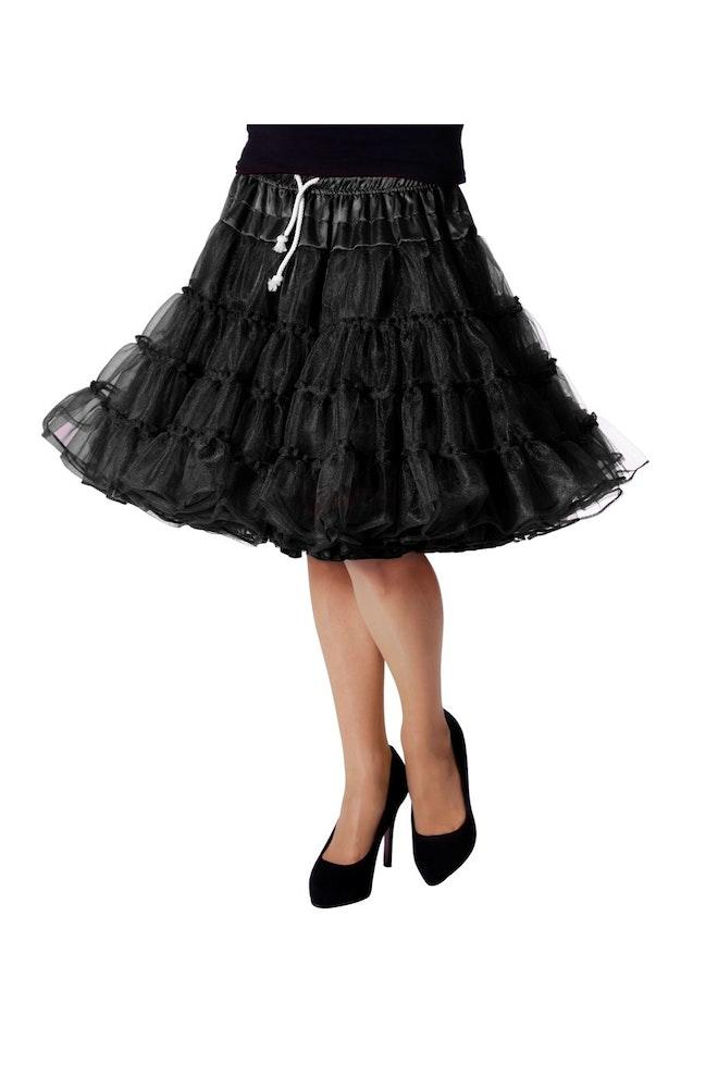 Petticoat luxe, zwart