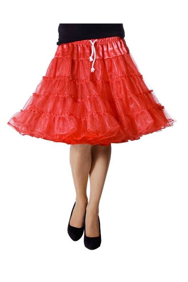 Petticoat luxe, rood