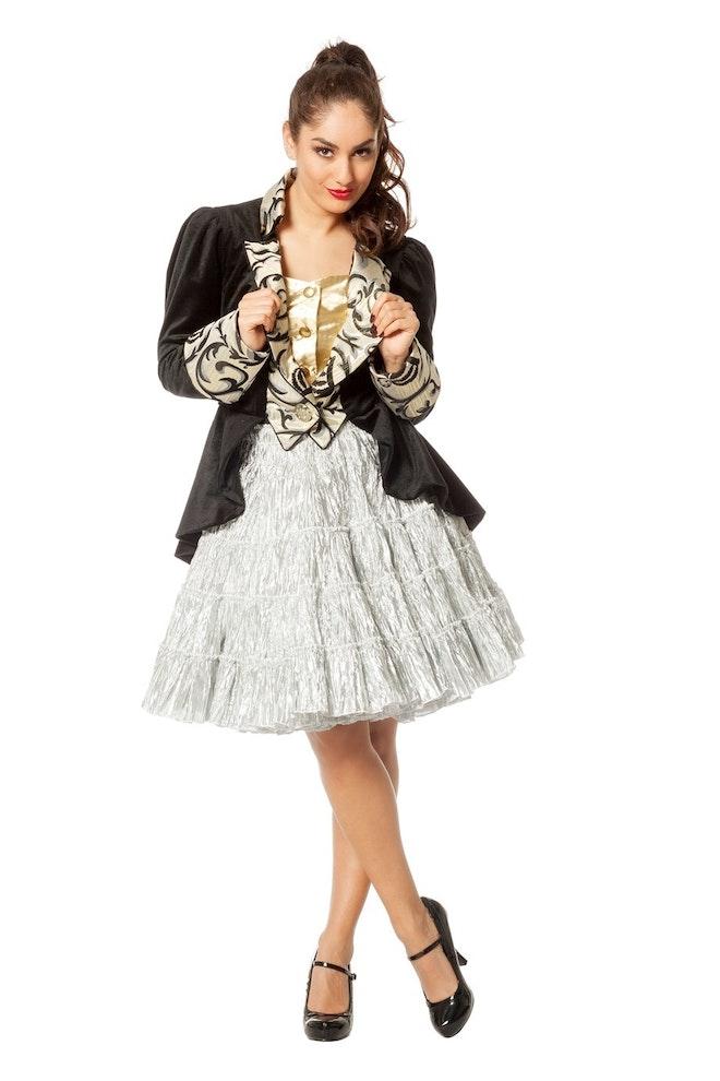 Petticoat luxe metallic, zilver
