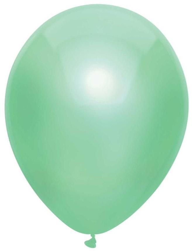Ballonnen uni Metallic Mint 10 st. 30 cm