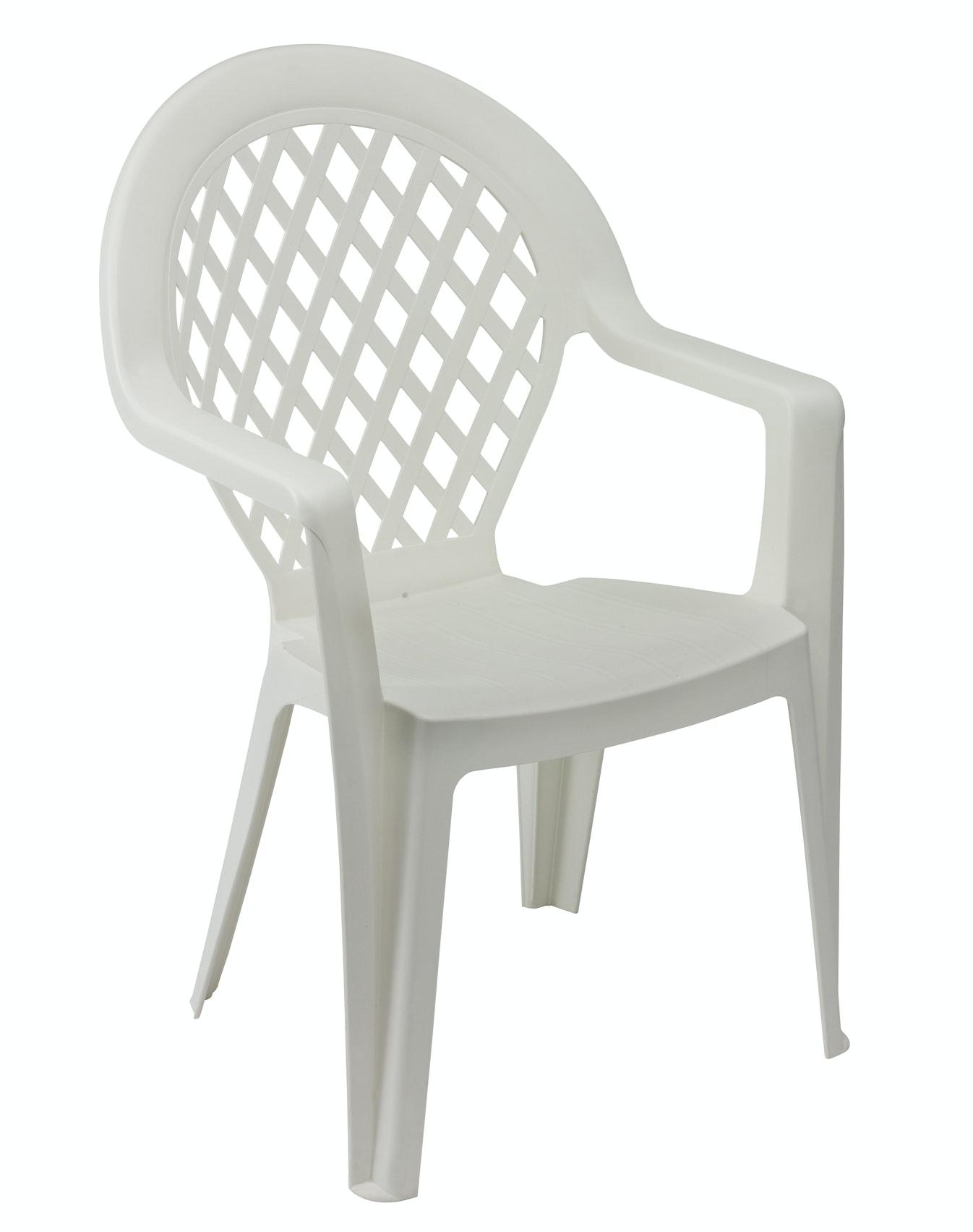 Grosfillex Madison stapelbare tuinstoel  wit