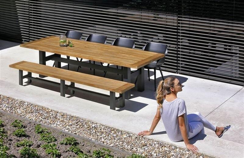 Hartman Sophie Studio tuinstoel met teak frame zwart