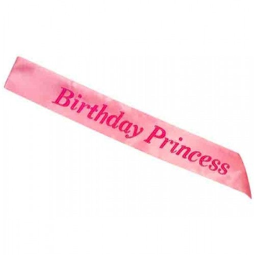 Sash Birthday princess pink