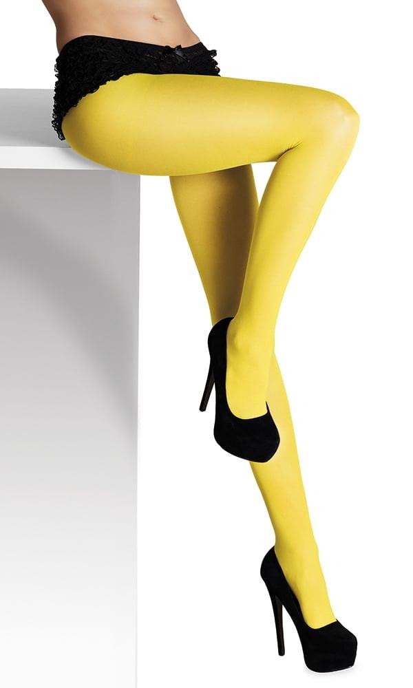 Ladies tights yellow op=op