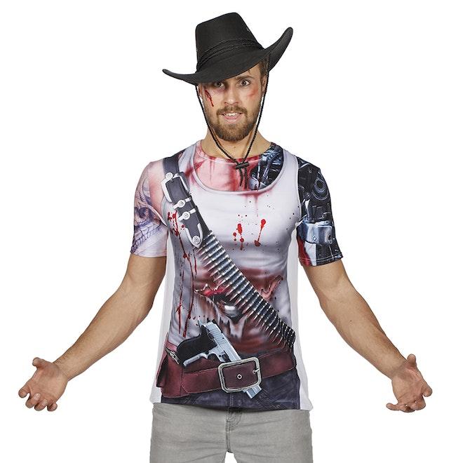 Shirt met print cowboy