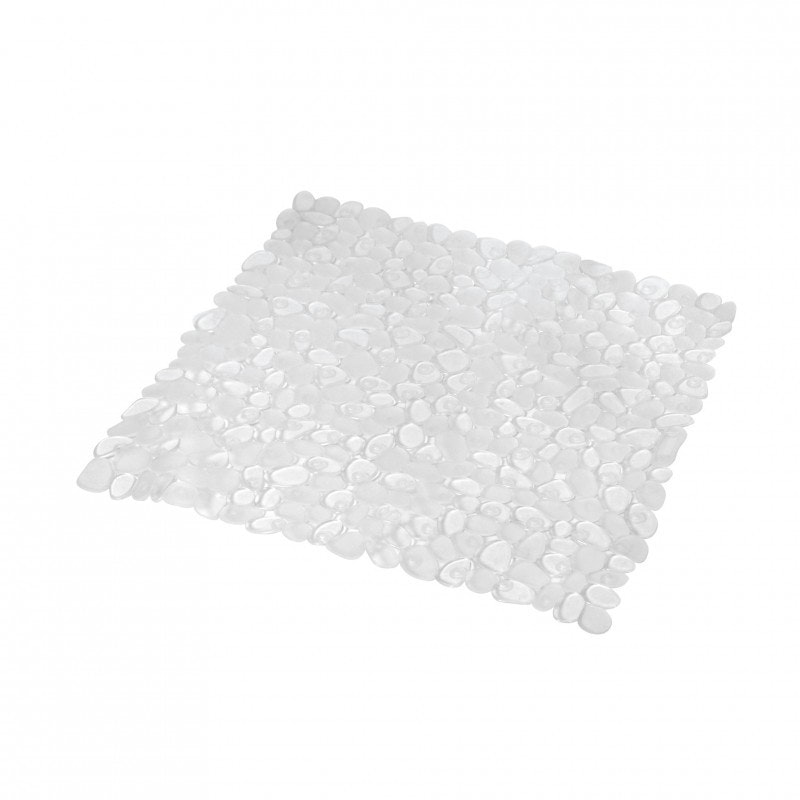 Douchemat anti slip 52x52cm transparant