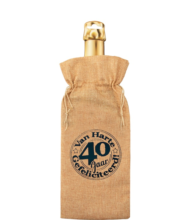 Bottle gift bag - 40 jaar OP=OP