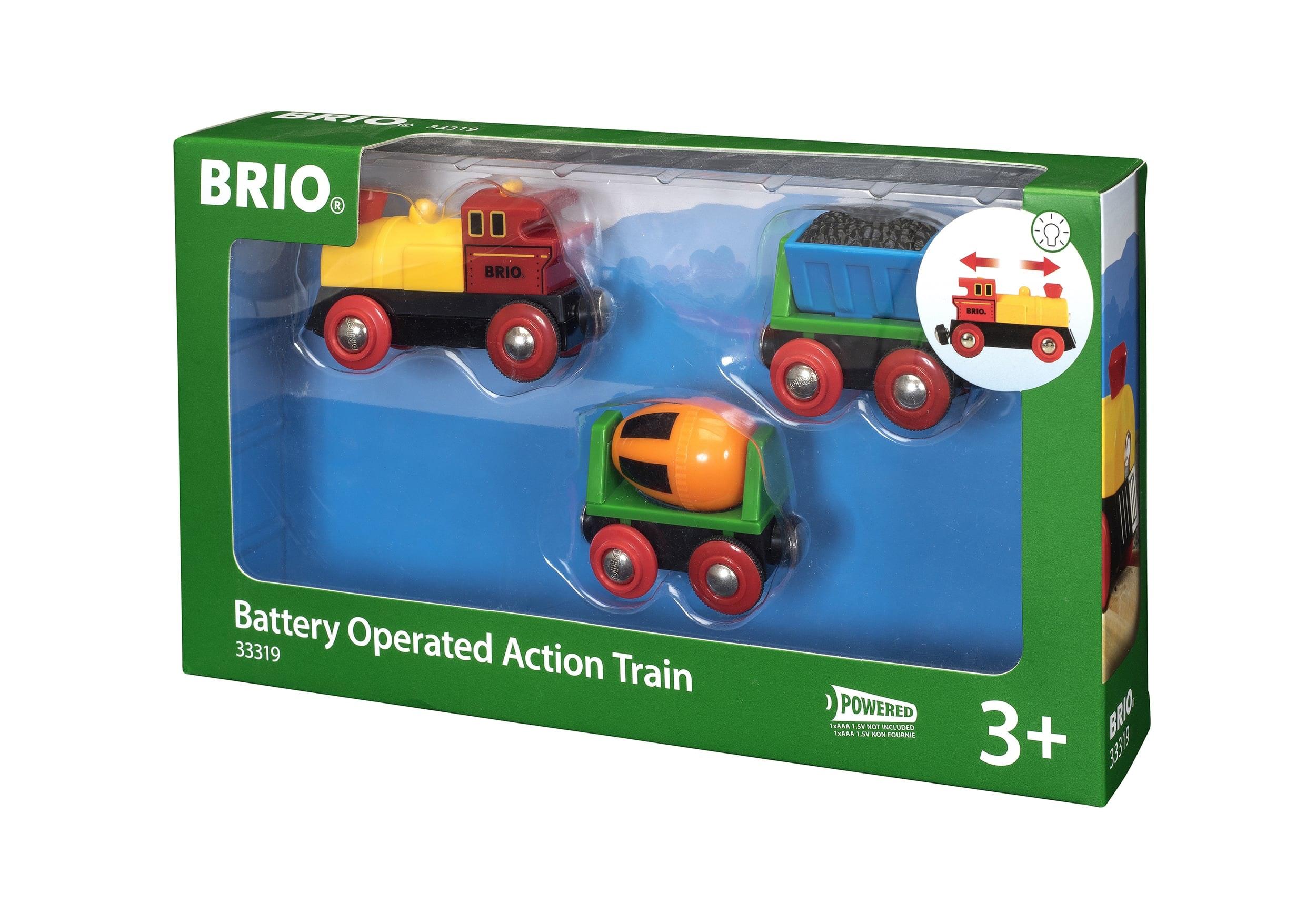 Brio op batterij lopende werktrein