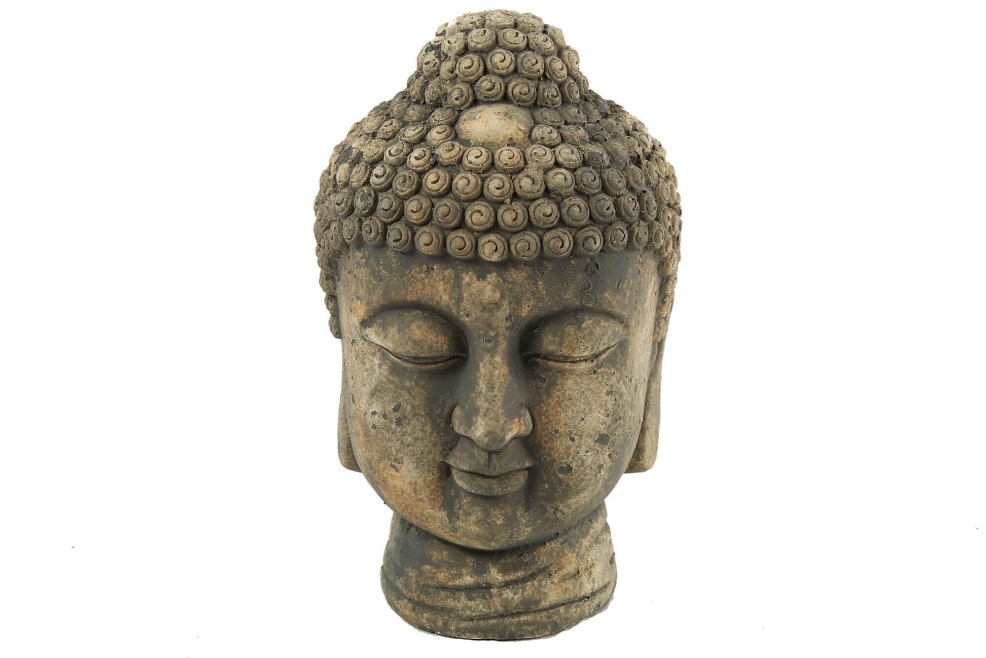 Boeddha 15x15x24cm grijs