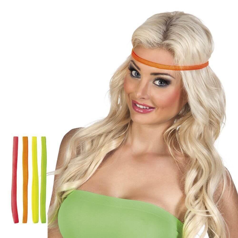 Set 4 Elastieke haarbandjes 4 kleuren ass.