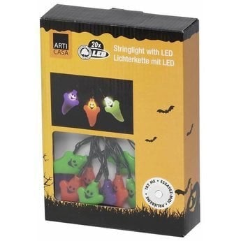 Halloween Lichtsnoer met 20 Spoken (LED)