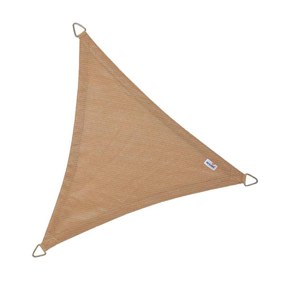 Coolfit schaduwdoek driehoek zand 5.0 x 5.0 x 5.0 meter