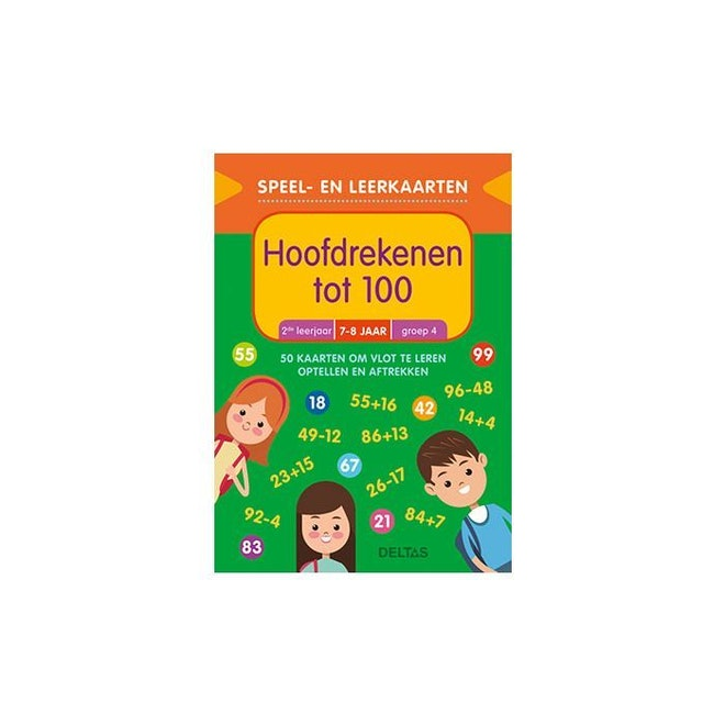 Deltas Speel- en leerkaarten - Hoofdrekenen tot 100 (7-8 j.)