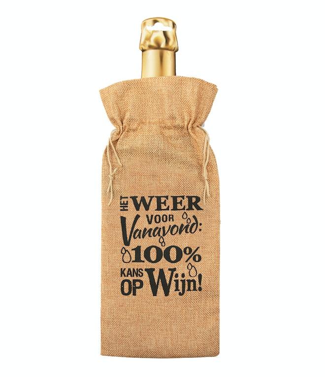 Bottle gift bag - Weersverwachting OP=OP