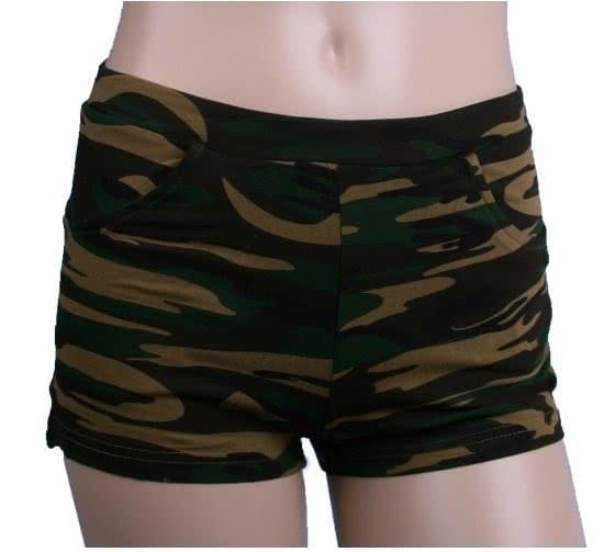 Ladies hotpants camouflage