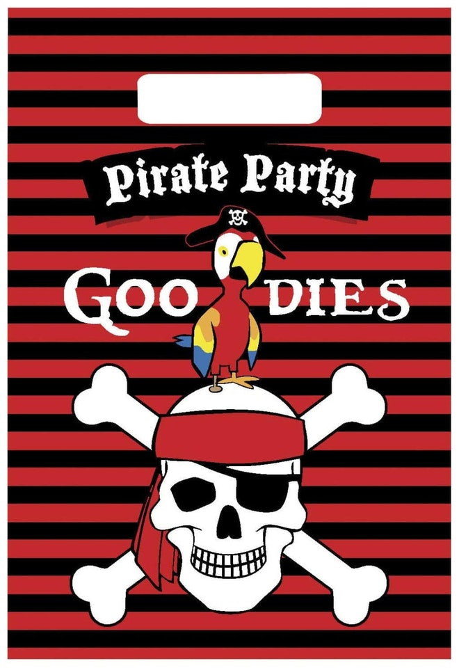 Partybags Piraten 6 stuks