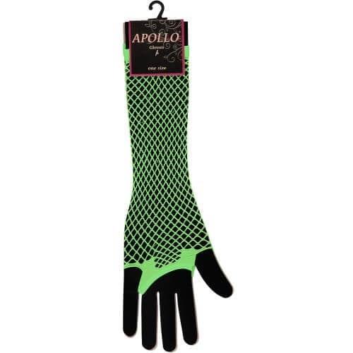 Visnet lang vingerloze handschoen groen
