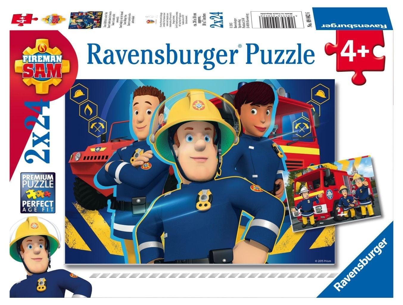 Ravensburger puzzels Brandweerman Sam helpt je uit de brand 2 x 24 stukjes